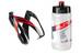 Elite Kit Corsetta/Ceo Trinkflasche & Halter 350ml schwarz/rot